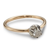 Annina Vogel 18Ct Rose Gold Rose Cut Diamond Solitaire Ring