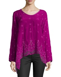 Johnny Was Long Sleeve Flowy Eyelet Tunic Women's