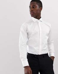 Ted Baker Slim Fit Shirt In White