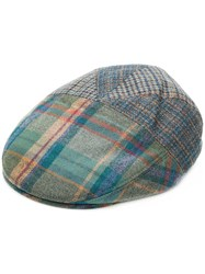 Etro Plaid Flat Hat Blue