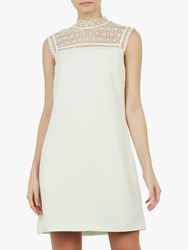 Ted Baker Carsey Lace Yoke And Sleeve Tunic Mint Green