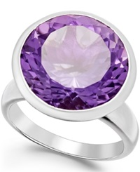 Macy's Amethyst Statement Ring 11 Ct. T.W. In Sterling Silver