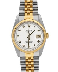 Rolex Pre Owned 36Mm Datejust Two Tone Bracelet Watch