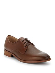 Steve Madden Perforated Paneled Leather Oxfords Tan Leather