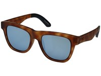 Toms Dalston Matte Honey Tortoise Fashion Sunglasses Blue