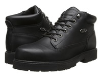 Lugz Drifter Steel Toe Black Leather Men's Lace Up Boots
