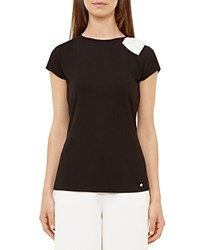Ted Baker Tuline Bow Detail Tee Black
