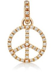 Sidney Garber Women's Peace Sign Pendant Colorless