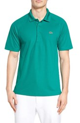 Lacoste Men's 'Sport' Raglan Ultra Dry Performance Polo Woodland Green