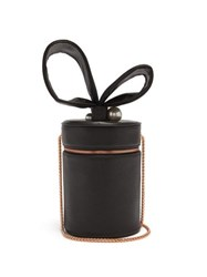 Sophia Webster Bonnie Leather Cylinder Bag Black