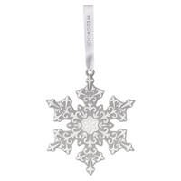 Wedgwood Snowflake Decoration Grey Large
