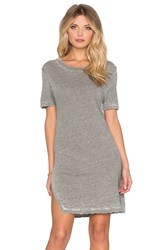 Monrow X Revolve Vintage Burn Out Oversized Tee Dress Gray