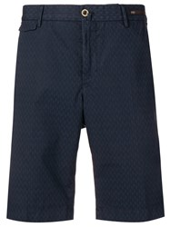 Pt01 Embroidered Tailored Shorts Blue
