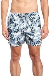 Ted Baker London Yalow Slim Fit Lobster Swim Trunks Blue