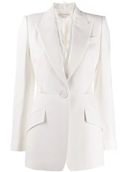 Alexander Mcqueen Lace Leaf Single Breasted Blazer 60