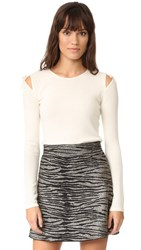 Elizabeth And James Ryan Tie Shoulder Sweater Ivory