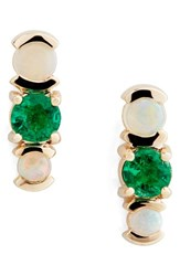 Mociun Women's Emerald And Opal Cluster Earrings Nordstrom Exclusive