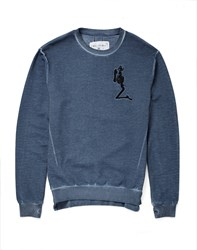 Religion Jumper In Washed Cotton Blue