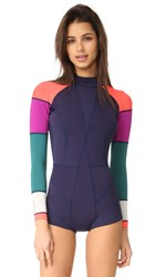 Cynthia Rowley Colorblock Wetsuit Navy Multi