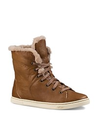 Ugg Croft Luxe Quilt Sneakers Chestnut