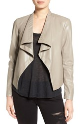 Bb Dakota Women's 'Peppin' Drape Front Faux Leather Jacket Toffee