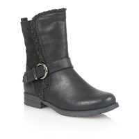 Lotus Rink Ankle Boots Black