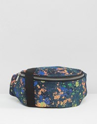 Asos Acid Wash Bum Bag With Paint Splash Multi
