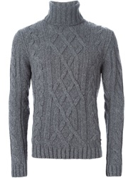 Woolrich Cable Knit Turtleneck Sweater Grey