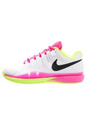 Nike Performance Zoom Vapor 9.5 Tour Clay Outdoor Tennis Shoes White Black Volt Pink Blast