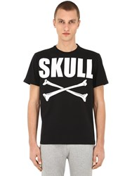 Hydrogen Skull Bones Cotton T Shirt Black