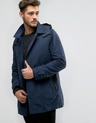 Boss Orange By Hugo Parka Jacket Detachable Quilt Gilet And Hood Navy
