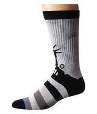 Stance Lady Liberty Grey Men's Crew Cut Socks Shoes Gray