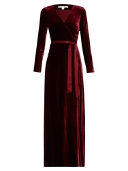 Diane Von Furstenberg New Julian Long Gown Burgundy