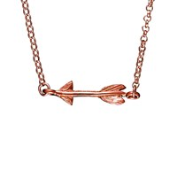 Chupi Follow Your Dreams Arrow Necklace In Rose Gold