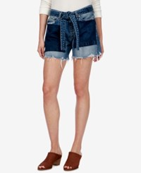 Lucky Brand Ripped Two Tone Denim Shorts Sidney