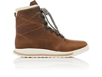 Rick Owens Dirt Grafton Oiled Leather Hiking Boots Lt.Brown