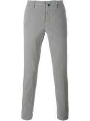 Incotex Pleated Skinny Chinos Grey