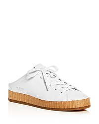 Rag And Bone Women's Leather Platform Mule Sneakers White