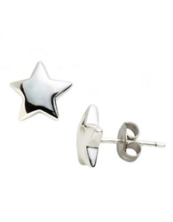 Lord And Taylor Sterling Silver Star Stud Earrings