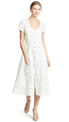 Three Dots Long Button Up Dress Winter White