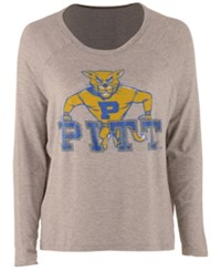 Retro Brand Women's Pittsburgh Panthers Vintage Long Sleeve T Shirt Gray