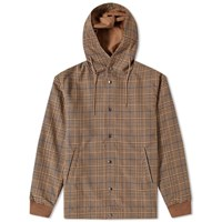 Arpenteur Checked Flannel Hooded Solo Parka Brown