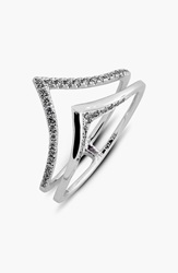 Bony Levy 2 Row V Diamond Ring Limited Edition Nordstrom Exclusive White Gold