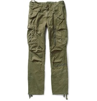 Polo Ralph Lauren Slim Fit Cotton Twill Cargo Trousers Green