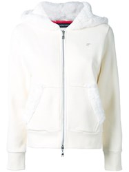 Loveless Zipped Hoodie White