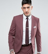 Noose And Monkey Super Skinny Suit Jacket Purple