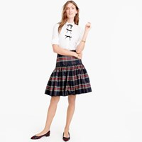 J.Crew Tall Taffeta Skirt In Stewart Plaid