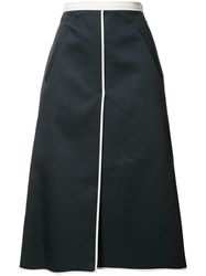 Thom Browne Wrap Straight Skirt White