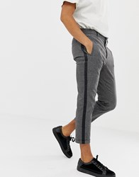 Mennace Smart Trousers In Check Grey
