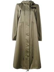 Maison Martin Margiela Mm6 Military Raincoat Green